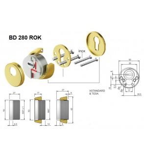 ESCUDO DISEC BD280 ROK CON ROTOR DE MANGANESO
